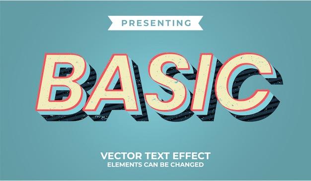 Effet de texte modifiable rétro 3d avec texture grunge