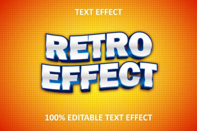 Effet texte modifiable rétro bande dessinée blanc rouge bleu