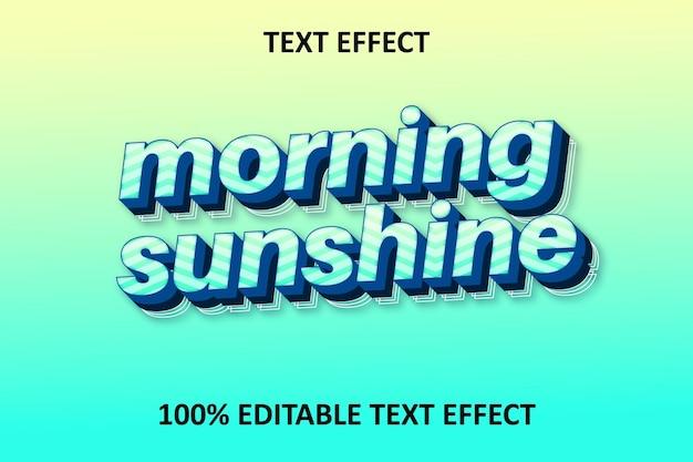Effet de texte modifiable rétro fantaisie bleu cyan jaune