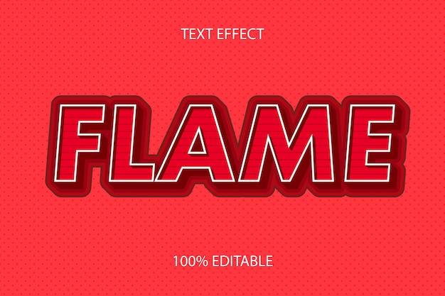 Effet de texte modifiable rétro de style flamme