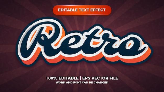 Effet de texte modifiable rétro vintage moderne