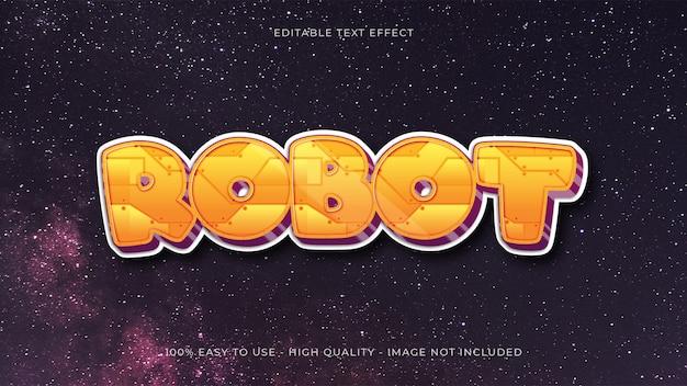 Effet de texte modifiable de robot