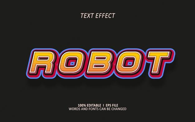 Effet de texte modifiable, robotique