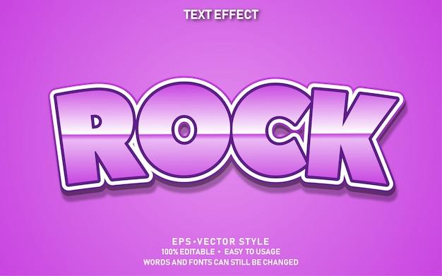 Effet de texte modifiable rock mignon