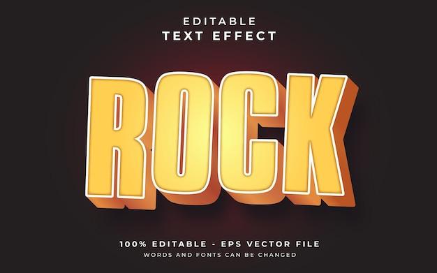 Effet de texte modifiable rock