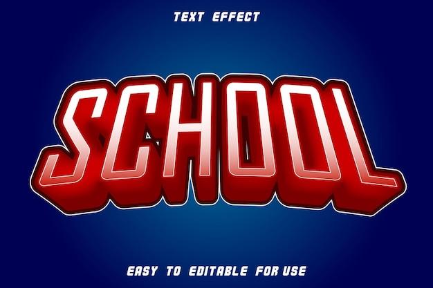 Effet de texte modifiable rouge école