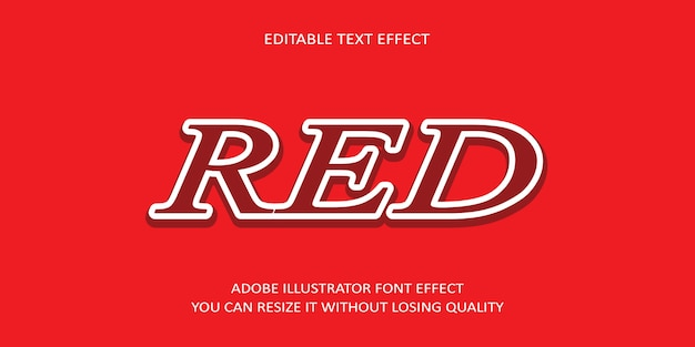 Effet de texte modifiable rouge avec fond rougeâtre