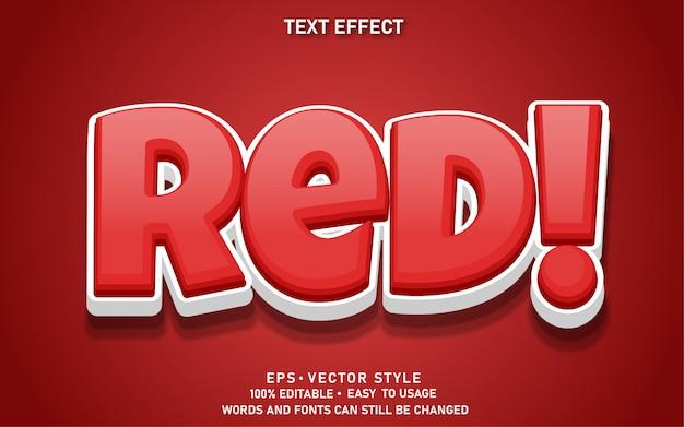 Effet de texte modifiable rouge mignon