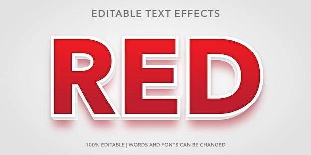 Effet de texte modifiable rouge