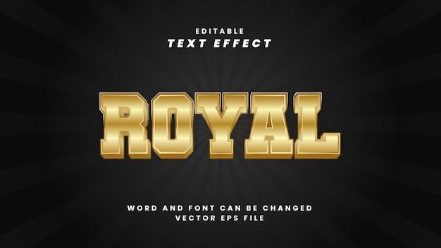 Effet de texte modifiable royal