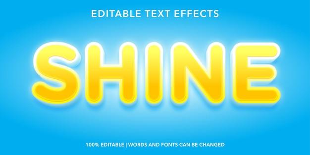 Effet de texte modifiable shine