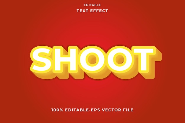 Effet de texte modifiable shoot de style moderne