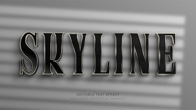 Effet de texte modifiable de signalisation skyline