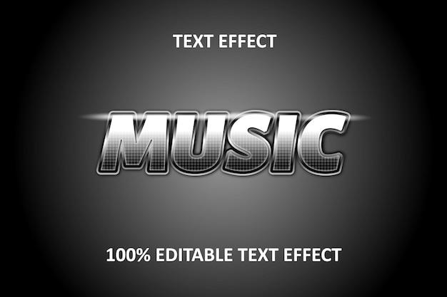 Effet de texte modifiable silver light