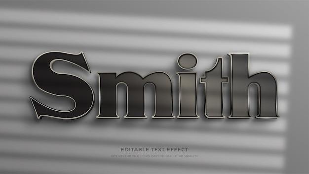 Effet de texte modifiable smith signage