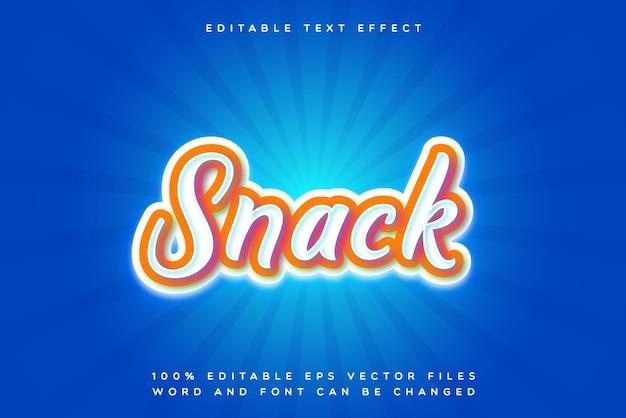 Effet de texte modifiable snack créatif