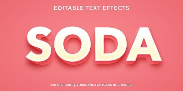 Effet de texte modifiable soda
