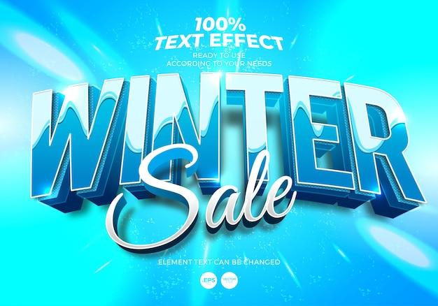 Effet de texte modifiable de soldes d'hiver