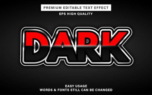 Effet de texte modifiable sombre