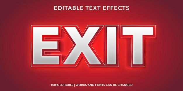 Effet de texte modifiable de sortie rouge