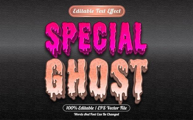 Effet de texte modifiable spécial fantôme sur le thème d'halloween