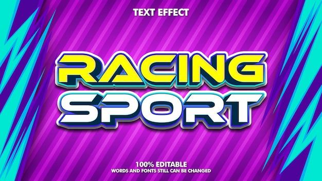 Effet de texte modifiable de sport de course