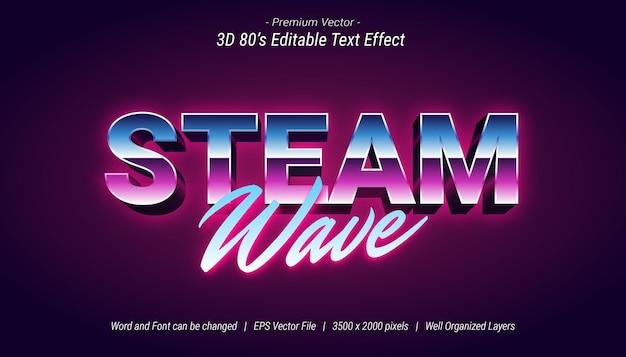 Effet de texte modifiable steam wave 3d