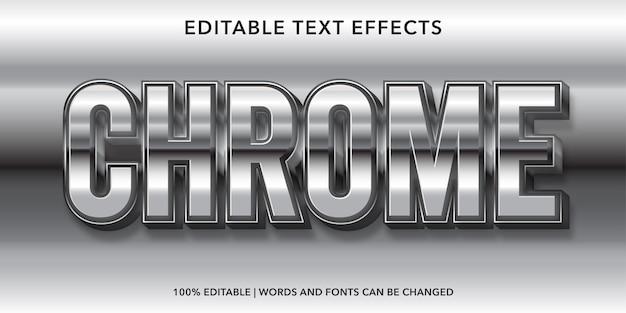 Effet de texte modifiable de style 3d chrome