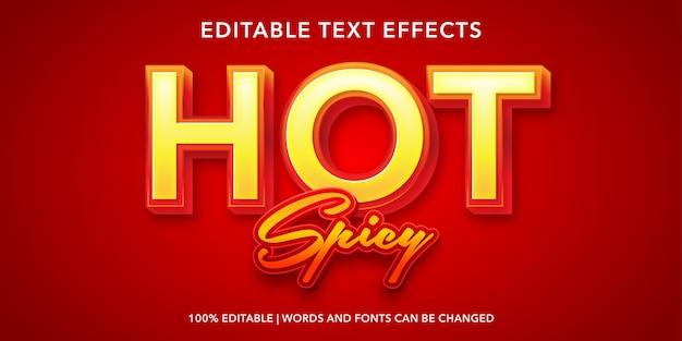 Effet de texte modifiable de style 3d épicé chaud
