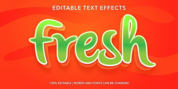 Effet de texte modifiable de style 3d frais