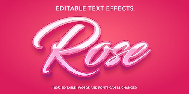 Effet de texte modifiable de style 3d rose