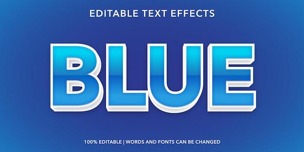 Effet de texte modifiable de style 3d de texte bleu