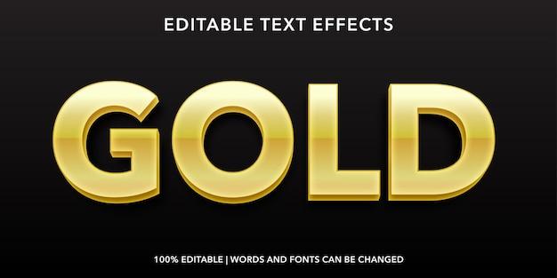 Effet de texte modifiable de style 3d de texte d'or