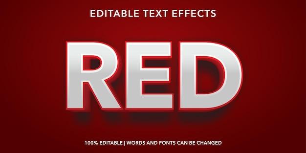 Effet de texte modifiable de style 3d de texte rouge