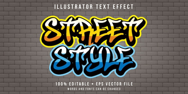 Effet de texte modifiable - style art mural de rue