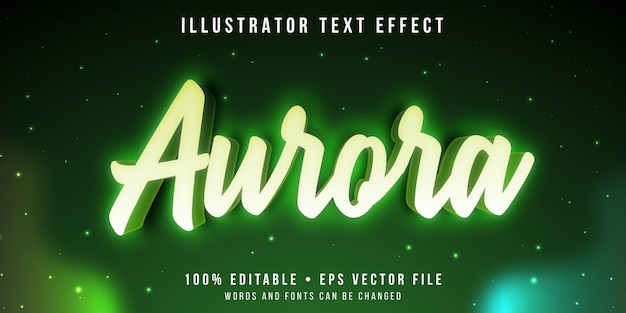 Effet de texte modifiable - style aurora lights