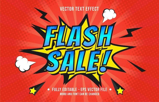 Effet de texte modifiable style bande dessinée pop art dégradé de couleur pour le modèle d'effet de police de médias numériques et imprimés