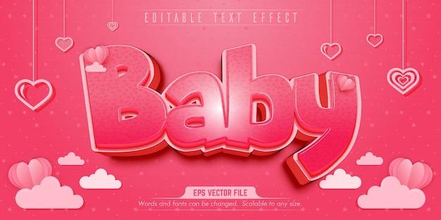 Effet de texte modifiable de style bébé