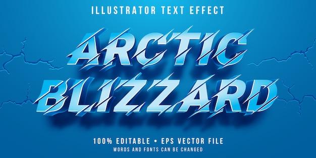 Effet de texte modifiable - style blizzard de neige