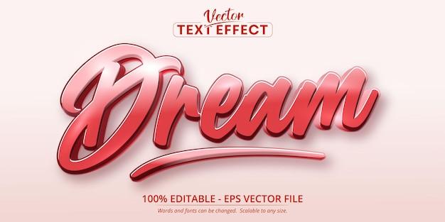 Effet de texte modifiable de style calligraphique de rêve