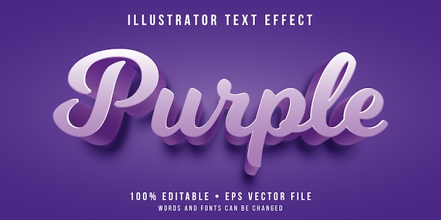 Effet de texte modifiable - style de couleur pourpre