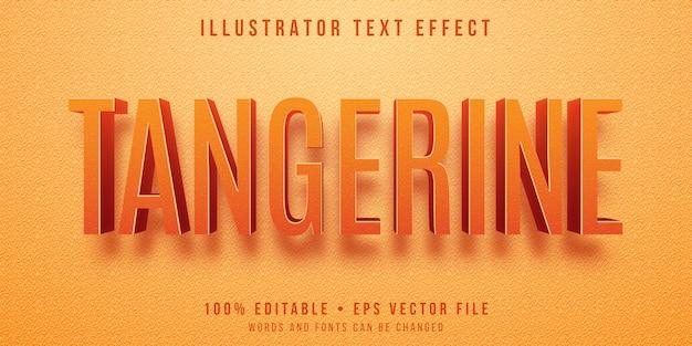 Effet de texte modifiable - style de couleur texturé mandarine