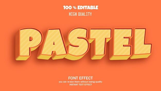 Effet de texte modifiable de style dessin animé pastel