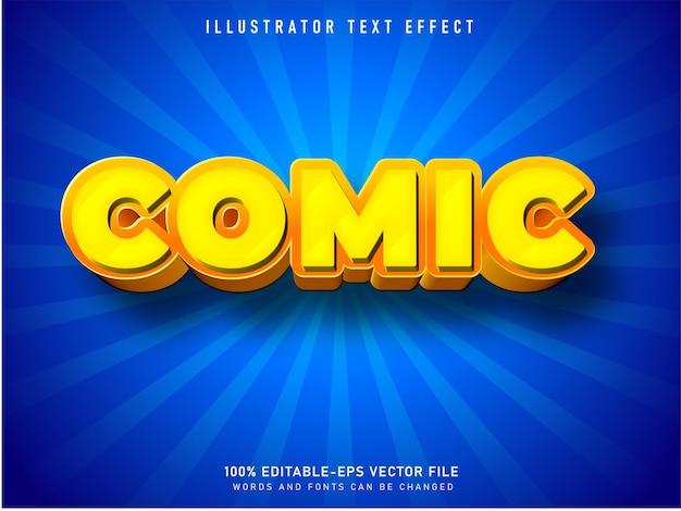 Effet de texte modifiable de style dessin animé de texte comique