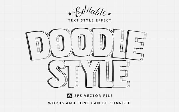 Effet de texte modifiable de style doodle