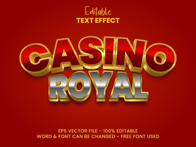 Effet de texte modifiable style d'effet de texte royal casino