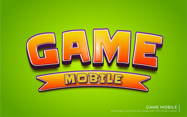 Effet de texte modifiable, style game mobile