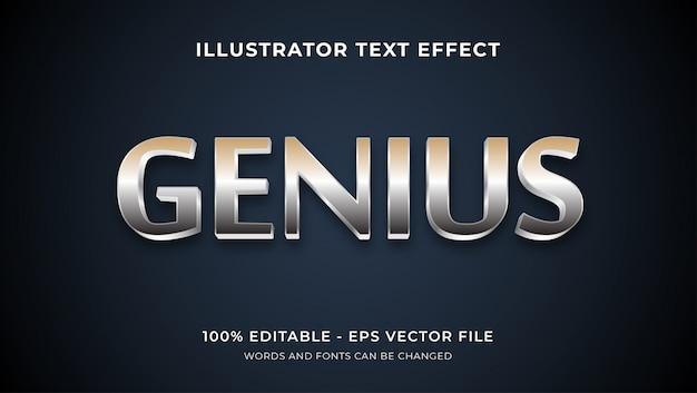 Effet de texte modifiable - style génie