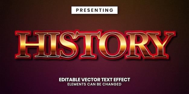 Effet de texte modifiable style historique classique