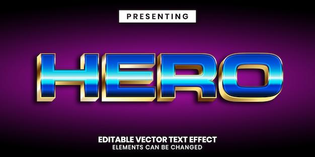 Effet de texte modifiable - style de jeu moderne brillant